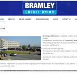 website home page for Bramley Credit Uniion